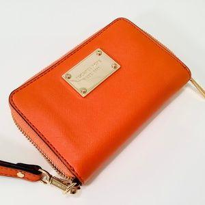 MICHAEL KORS Wallet Saffiano Leather Orange